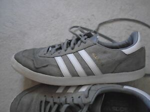 ADIDAS TURF ROYAL GREY SUEDE TRAINERS SIZE 10 UK 44.5 EURO D32