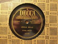 ETHEL SMITH - Jingle Bells / White Christmas  DECCA 24142 - 78rpm xmas