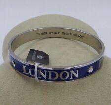 Brighton New HAUTE POOCH Navy Blue Bangle Bracelet JB2996 NWT