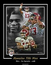 ALABAMA FOOTBALL HAWAIIAN TITLE WAVE TUA NATIONAL CHAMPIONSHIP PRINT BY TINNEY