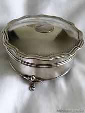 Antique Solid Silver Jewel/Trinket Casket Birmingham 1921