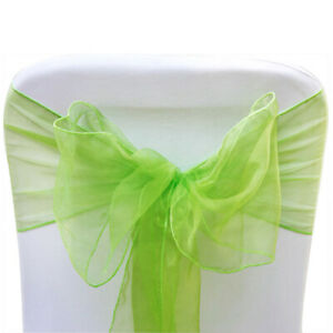 75 Lime Green Organza Sashes Chair Covers Wedding Party Event Decoration Decor