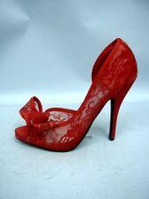 "JustFabulous Red Lace ""Jennifer"" D'Orsay Pumps - Size 37 (7)"