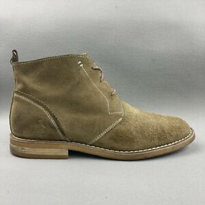 Original Penguin Merle Suede Chukka Boots Casual Dress Brown Leather Mens Size 9