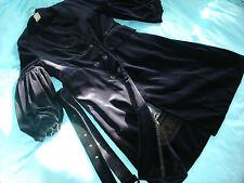 Vtg BLUE VELVET Italian POET Bell SLEEVE Medieval Dress COAT 60s/70s style 12/14