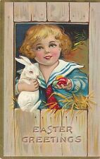 EASTER – Child, Rabbit and Eggs