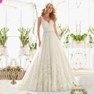 New season Lace wedding dress with beaded belt, V back, UK tailor, all sizes