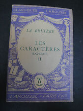Les Caractères II - La Bruyère - 1947