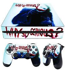 PS4 Fin Skin JOKER Bloody 02 Batman Villain Arkham City Clown + PAD