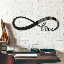 Acrylbuchstaben - Unendlich Love DEKOELEMENT Wohnaccessoires Wanddeko schwarz