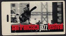 San Francisco Jazz Fest _Rare 1996 Backstage Laminate Tour Pass - Diana Krall