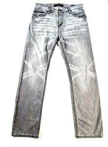 BILLABONG Mens Grey Straight Leg Denim Jeans Size 32