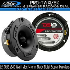 2 DS18 PRO-TWX1 Black Bullet Super Tweeters 240W 4-ohm Car Audio Speaker Horn