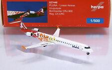 "Herpa Wings 527446 PLUNA-Lineas Aereas uruguayas Bombardier crj-900 ""CX-CRC"""
