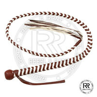 04 Feet long 12 plaits Genuine Real Leather Bull Whip Heavy duty Bullwhip