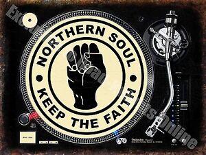 Northern Soul Keep the Faith 145 Dj Decks Music Records Gift Fridge Magnet