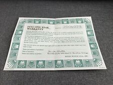 Rolex Certificate Guarantee Warranty Punched From 80s Daytona Submariner GMT 80