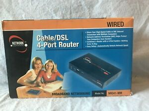 Network Everywhere Cable/DSL 4-Port Router NR041-WM