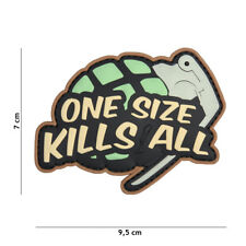 One Size Kills All Granate Patch Klett Logo Airsoft Paintball Tactical Softair
