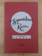 BRAND NEW Tool handsaws Catalogue reprint 1919 Simonds Saws & Knives Not Disston