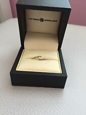 1/20 ct. Diamond Promise Ring in 10K White Gold (Littman Jewelers) Size 6
