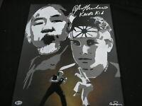 RALPH MACCHIO Signed KARATE KID Original Painting Autograph BAS BECKETT COA RARE