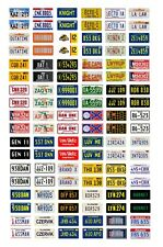 1/24 1/25 scale model car movie TV license plates tags