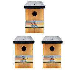 3 x Pressure Treated Wooden Bird House Nesting Box Simply Direct