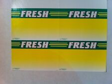 Retail Produce Price Card  Fresh  Four  5 x 7 inch  per sheet 100 cards Pack