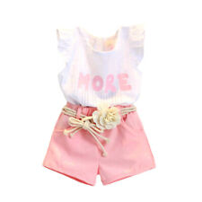 Kid  Summer Toddler Baby Girls Tops T-shirt + Shorts Pants Outfits Set Clothes
