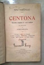 CENTONA RACCOLTA COMPLETA VERSI SICILIANI MARTOGLIO CAPUANA 1907
