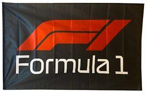 F1-FLAG FORMULA 1 ONE BLACK BANNER LANDSCAPE 5 X 3 FT 150 X 90 CM