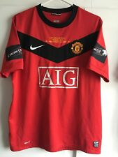 *L* 2010 Carling Cup Final Manchester United Football Shirt #10 Rooney