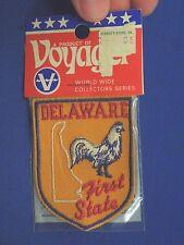 Vintage Retro Voyager Delaware First State Blue Hen Badge Emblem Patch