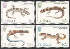 Tuvalu 1986 Lucertole/Scinco/Gecko/rettili/NATURA/Animali/Fauna selvatica serie 4v (n40493)