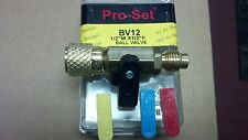"CPS PRODUCTS, R134A, BALL VALVE, BV12, 1/2"" ACME, R-134A, 3 COLOR HANDLE INSERTS"