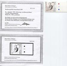 Bund 1962 L 1. Auflage postfrisch Befundkopie Schlegel BPP (B03082)