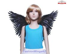 FashionWings (TM) Children's Black Butterfly Style Costume Feather Angel Wings