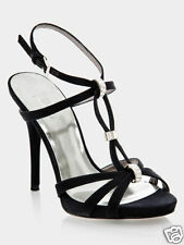 NIB MARCIANO GUESS ALICE BLACK SATIN SANDAL SHOES SIZE 8 10!! ONLY 1 EACH LEFT!!