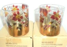 Yankee Candle 2x GOLD OMBRE Votive or Tealight Holders New in Box  FREE SHIPPING