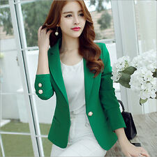 Women's Fashion One Button Slim Casual Business Blazer Suit Jacket Coat Outwear