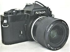 Nikon Black FE 35mm SLR Film Camera w Series E 36-72mm f/3.5 Lens Excellent