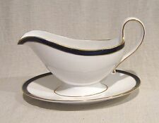 Spode Consul Cobalt Gravy Boat with Attached Underplate