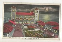 Garden Pier at Night ATLANTIC CITY NJ Vintage New Jersey Moonlight Postcard