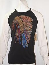 Denim & Supply Ralph Lauren Native American headdress size L baseball tee NEW