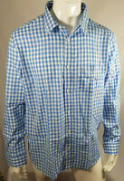 Onfire Mens Cotton Gingham Long Sleeve Shirt Blue/White Size 2XL BNWT RRP £29.99