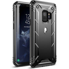 Poetic Galaxy S9 Rugged  Case [Revolution] w/ Built-in-Screen Protector Black