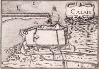 Carte XVIIe Calais Pas de Calais Maritime Christophe Tassin 1634