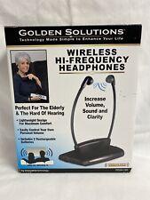 Golden Solutions Wireless Hearing Assistant TV Headphones Infrared ITGSH-150 NOS