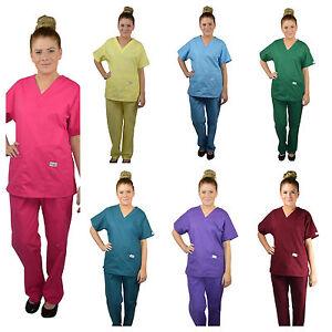 ScrubShine Medical Scrubs Set/ Uniform Nurse- BN Choose Size & Colour